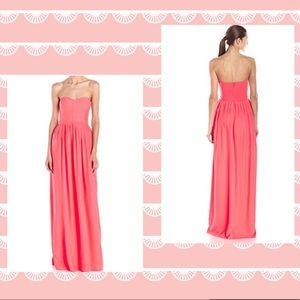 Paker Bayou Strapless Silk Dress